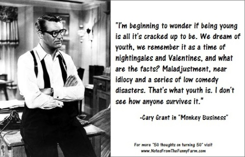 Cary Grant Monkey Business meme with border