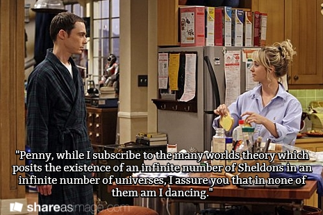 sheldon and penny big bang dancing alternate universe