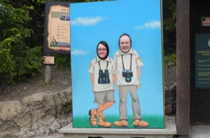 Darling husband and I monkeying around at the zoo.