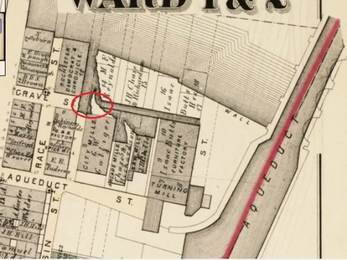 The likely spot where Emma Moore's body was found in 1855.
