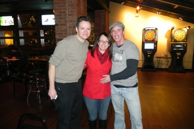 "Me with the stars of  ""Midtown"", Tom Malloy and Scott Baker."