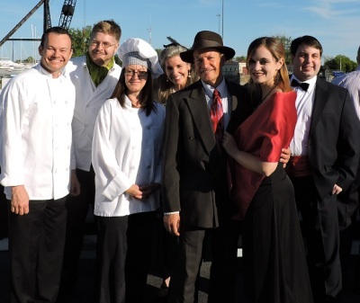 The cast of the Mystery Company, aboard the Grand Lady of the Niagara.