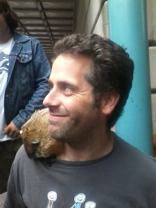 Walking down Gibbs Street, I saw a man with a groundhog on his shoulder. Welcome to the Fringe.