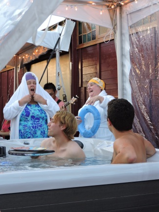 Kerry Young and Abby DeVuyst are also the creators of Hot Tub: The Musical.