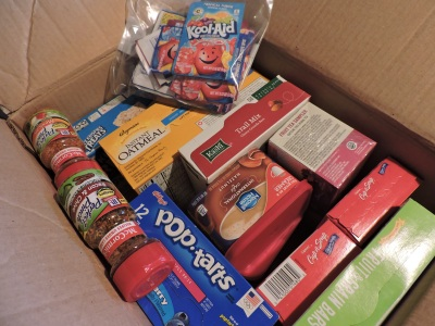 My care package sent through AnySoldier.com.
